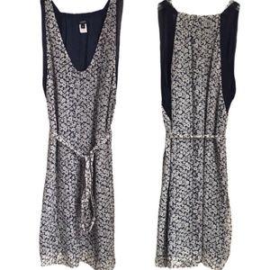 J. Crew Silk Blue & White Print Gauzy Midi Dress 0